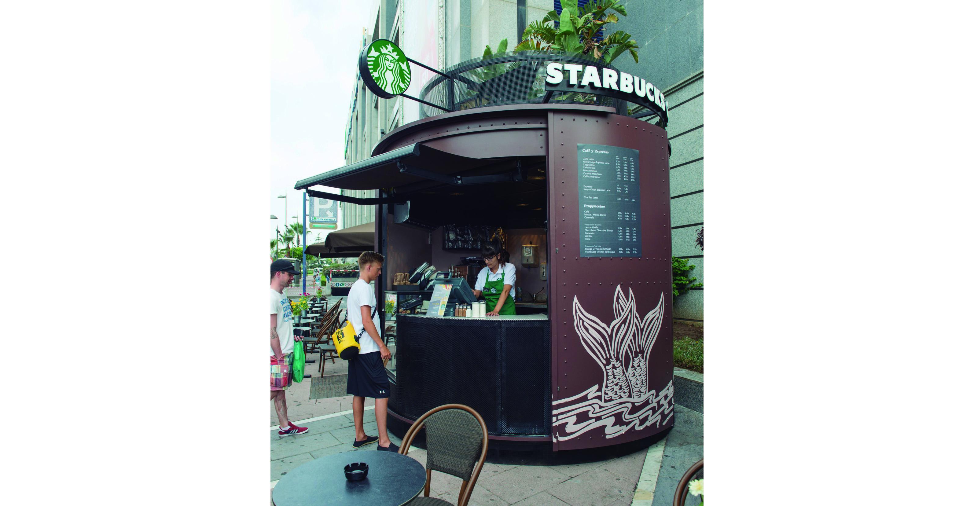 Nuevo concepto kiosco starbucks